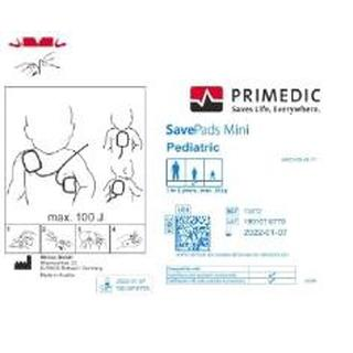 Primedic Heartsave Save Pads mini, 1 Paar, Verwendung für: PAD, AED, AS, AED-M, 6, 6S mit Kindermodus